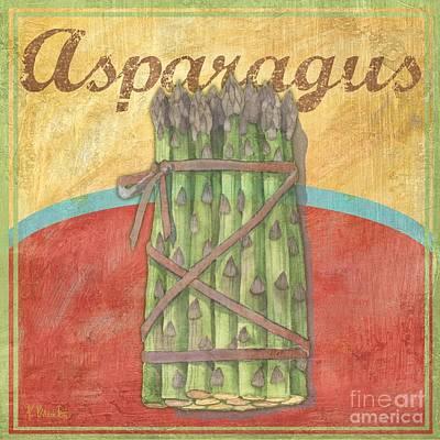 Asparagus Painting - Organic Garden II by Paul Brent
