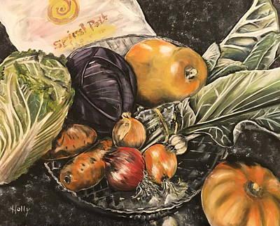 Organics On Granite Original by Holly Angelique
