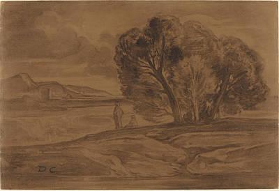 Oriental Landscape Print by Alexandre-gabriel Decamps