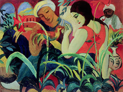 Abstract - Expressionist - African Art Painting - Oriental Women by August Macke