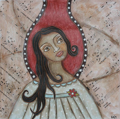 Christian Art . Devotional Art Painting - Orifiel by Rain Ririn