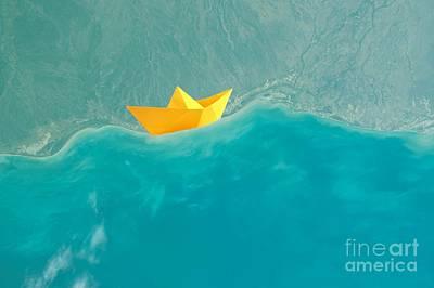 Fantasie Photograph - Origami by Jacky Gerritsen