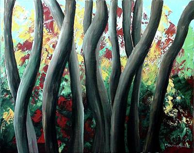 With Pallet Knife Painting - Original Acrylic Art On The Canvas  by Mounika Narreddy