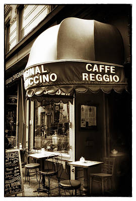 Window Signs Photograph - Original Cappuccino by Jessica Jenney