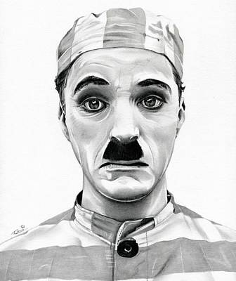 Austin Drawing - Original Charlie Chaplin Adventurer by Fred Larucci