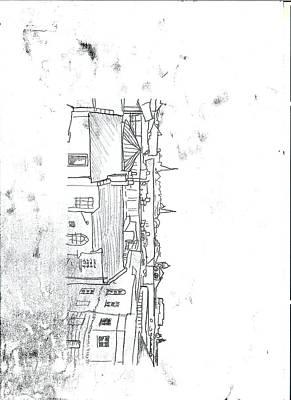 Original Cheltenham Skyline Monoprint Print by Tom  Layland