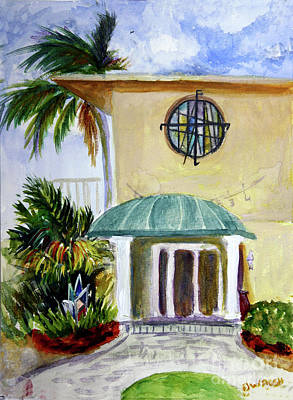 Beach Painting - Original Conrad Pickel House And Studio by Donna Walsh