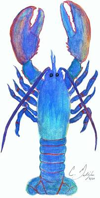 Watercolor Painting - Original Lobster Watercolor Painting by Christian Galligher