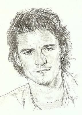 Orlando Bloom Drawing - Orlando Bloom by Carla  Stroud