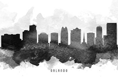 Florida Digital Art - Orlando Cityscape 11 by Aged Pixel