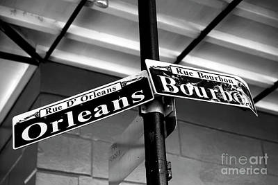 Orleans And Bourbon Infrared Print by John Rizzuto