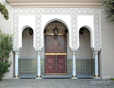 Morocco Photograph - Ornamented Door, Hassan II Mosque, Casablanca, Morocco by Dani Prints and Images