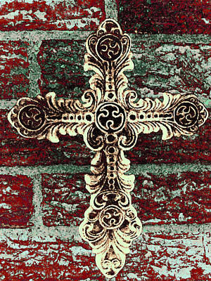 Ornate Cross 1 Print by Angelina Vick