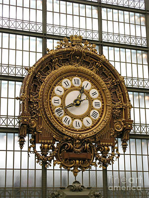 Ornate Orsay Clock Print by Ann Horn