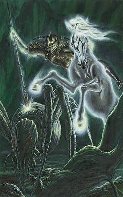 Orome Hunts The Creatures Of Morgoth Print by Kip Rasmussen