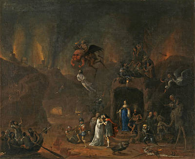Pieter Fris Painting - Orpheus And Eurydice In The Underworld by Pieter Fris