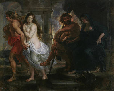 History Painting - Orpheus And Eurydice by Peter Paul Rubens