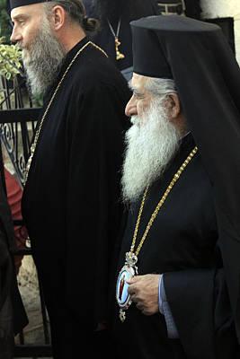Orthodox Priests Original by Munir Alawi