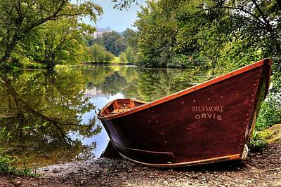 Asheville Photograph - Orvis Rowboat And Biltmore Reflection by Carol R Montoya