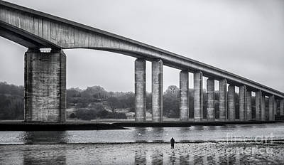 Sun Rays Digital Art - Orwell Bridge by Svetlana Sewell