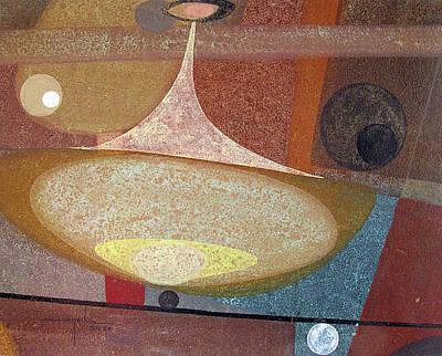 Cosmic Space Painting - Os1958ar002ba Abstract Design 14x11 by Alfredo Da Silva