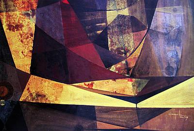 Cosmos Painting - Os1959ar012ba Abstract Landscape Of Potosi Bolivia 22.3 X 33 by Alfredo Da Silva