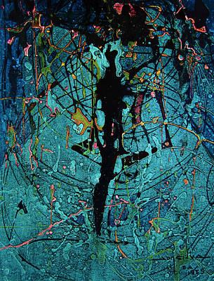 Cosmos Painting - Os1959ar016ba  Abstract Shapes 12.9 X 16.9 by Alfredo Da Silva