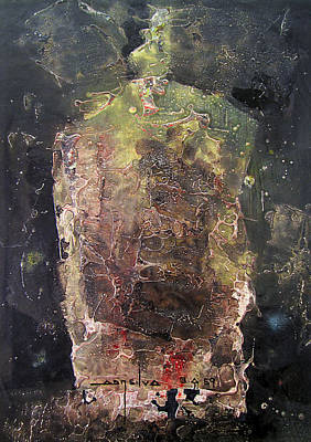 Cosmos Painting - Os1959ar019ba Abstract Shapes No.4 13.6 X 19.6 by Alfredo Da Silva