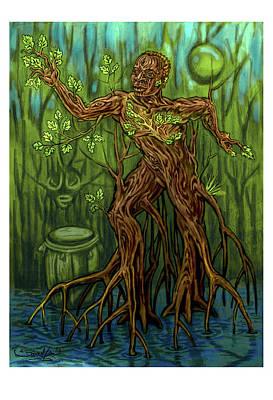 Yoruba Painting - Osain by Samuel Lind