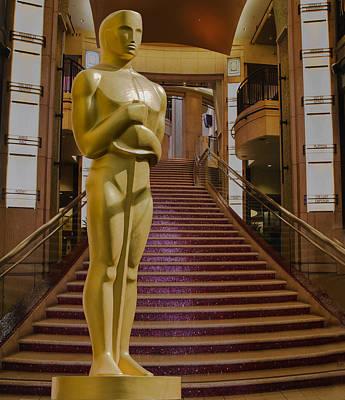Oscar Statue Dolby Theater Print by Janet Ballard