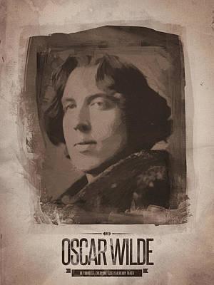 Oscar Wilde 02 Print by Afterdarkness