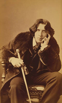 Wilde Photograph - Oscar Wilde - Irish Author And Poet by War Is Hell Store