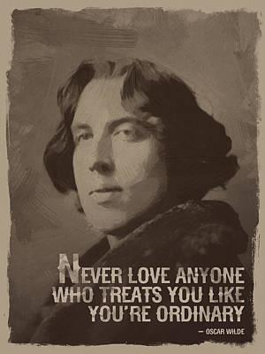 Poster Digital Art - Oscar Wilde Quote by Afterdarkness