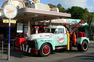 Oscar's Super Service Gas Station In Hollywood Studios Print by Anita Hiltz