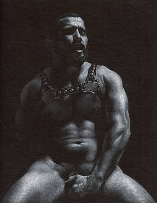 Male Nude Drawing Drawing - Oscuro 7 by Chris  Lopez