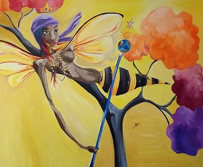 Oshun Painting - Oshun Orisha Of Love by JaFleu