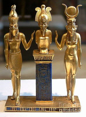 Horus Mixed Media - Osiris Horus And Isis by Frederick Holiday