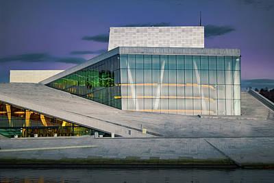 Oslo Opera House Print by Adam Rainoff