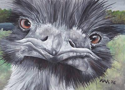 Ostrich Original by Katherine Klimitas