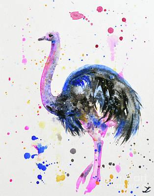 Ostrich Print by Zaira Dzhaubaeva