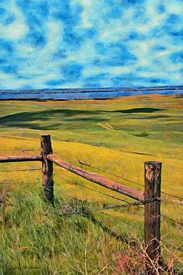 Painting - Other Side Of The Fence by Jeff Kolker