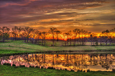 Other Worldly Sunrise Reflections   Print by Reid Callaway