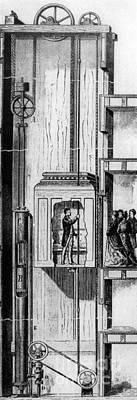 Otis Photograph - Otis Elevator, 1880 by Granger