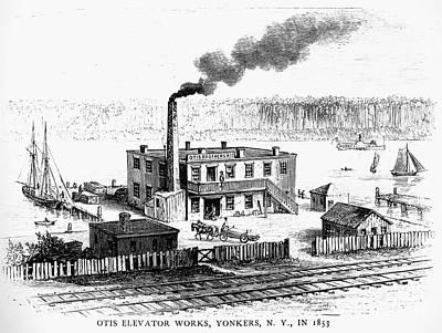 Otis Photograph - Otis Elevator Works, 1853 by Granger