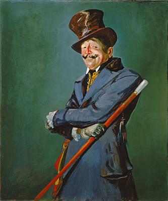 Painting - Otis Skinner As Col. Philippe Bridau by George Benjamin Luks