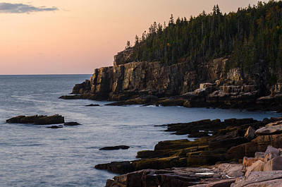 Acadia Photograph - Otter Cliffs At Dawn by Benjamin DeHaven