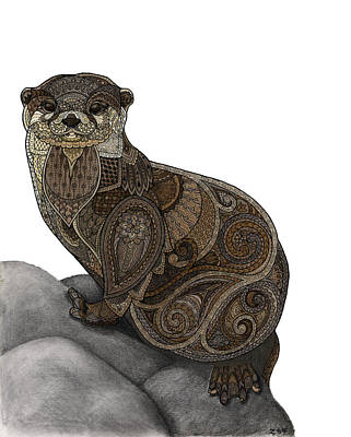 Otter Mixed Media - Otter Tangle by ZH Field