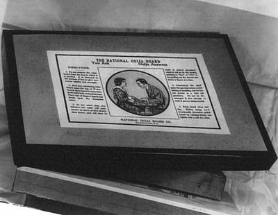 Board Game Photograph - Ouija Board, Manufactured by Everett