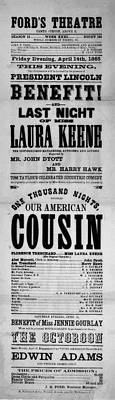 Our American Cousin Print by Bill Cannon