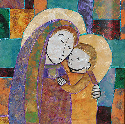 Mosaic Mixed Media - Our Lady Of Good Counsel by Carol Cole